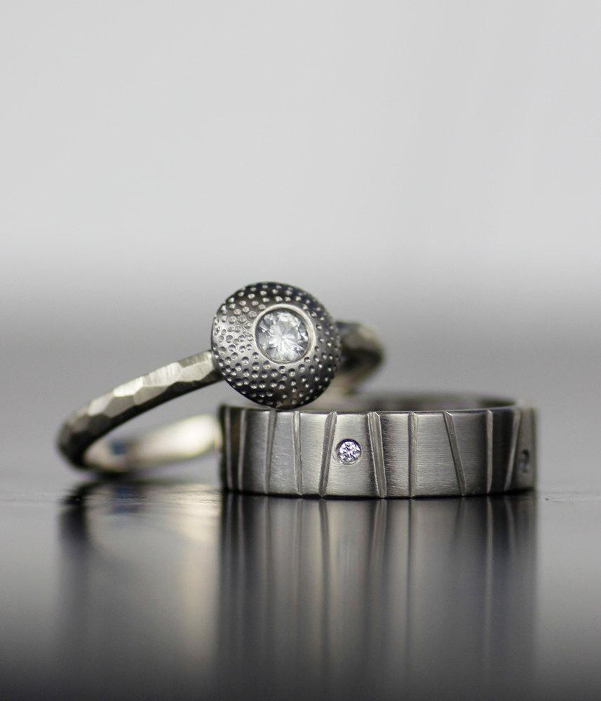 Womens Wedding Band Set Ice Nova Diamond Engagement Ring