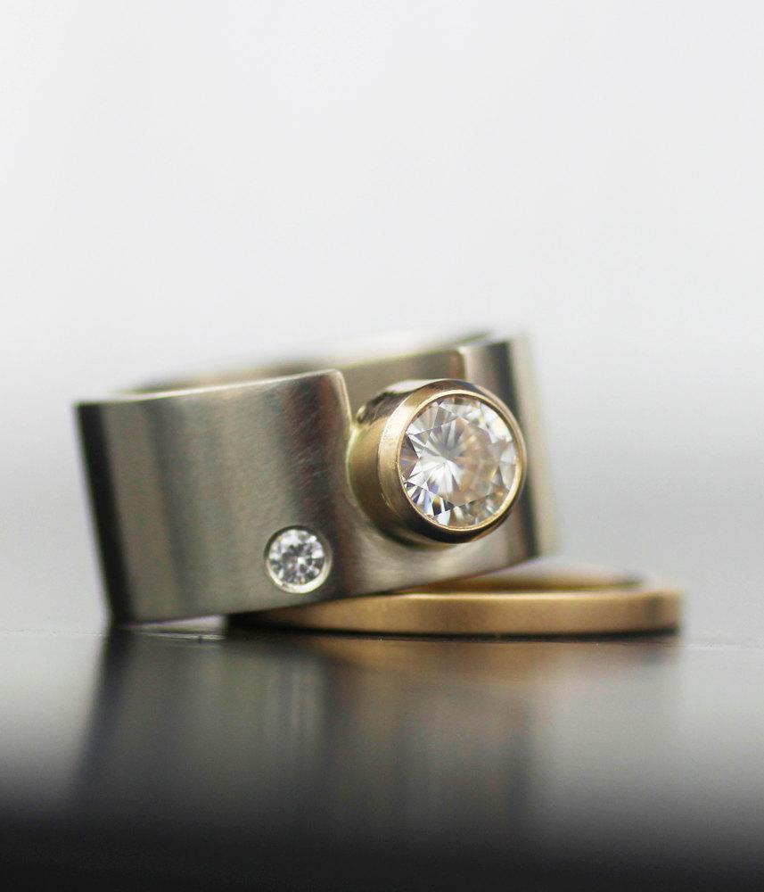 Engagement Ring Womens Wedding Band Set Womens Wedding Ring Set