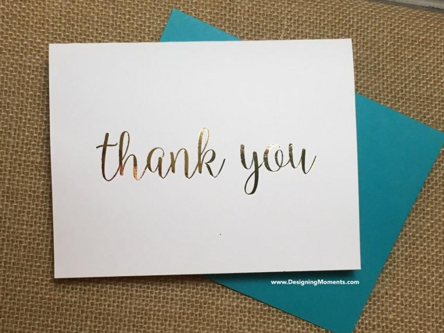 Mariage - Gold Foil Thank You Cards - Wedding Thank You Cards - Gold Foil Stationery - Calligraphy Stationary - Wedding Thank You Cards DM132
