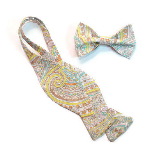 Mariage - Men's ties Paisley freestyle and pre-tied bow ties Wedding bow ties Cravates de mariage Hochzeits querbinder Men's gifts Groomsman bow ties