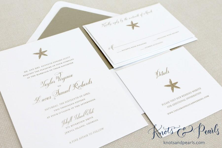 Starfish Wedding Invitations, Starfish Invitations, Beach Wedding ...