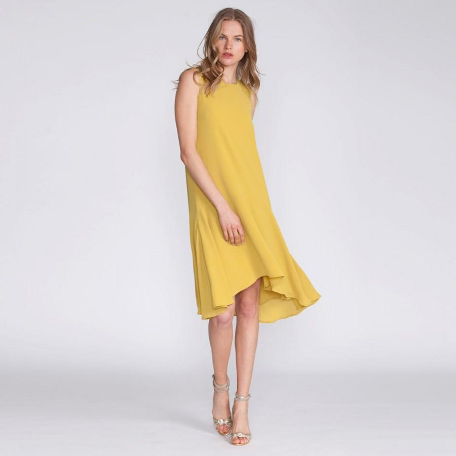 Mustard Dress Evening Wear Boho Chic Short Dress Cocktail Dress