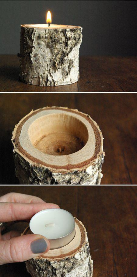 Hochzeit - Oleander And Palm: Birch Wood Candle Holders