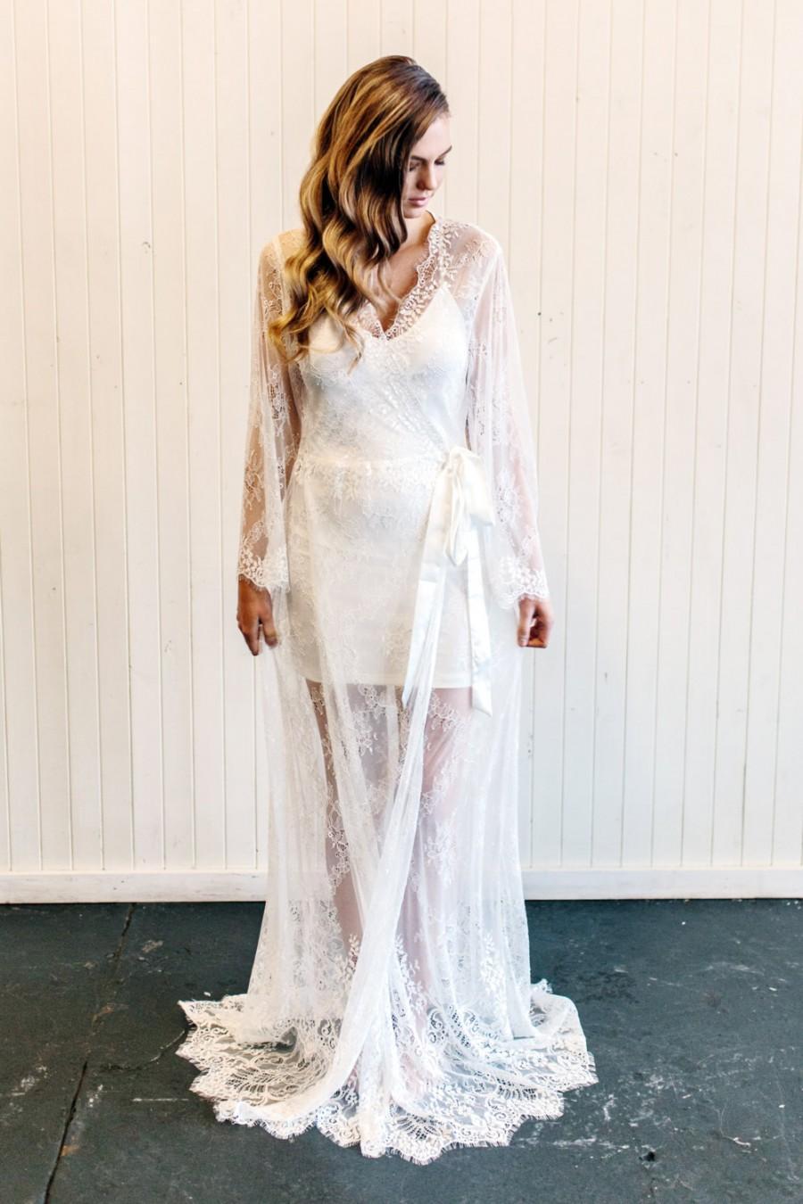 Hochzeit - Lace Bride Robe