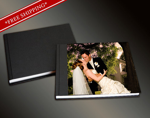 Hochzeit - Flush Mount Wedding Album - Acrylic Cover Custom Design Photo Album Custom Wedding Album 10 x 10