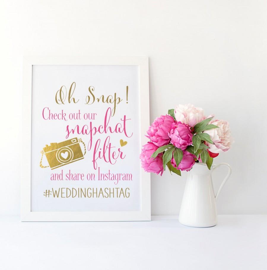 Mariage - Snapchat Filter Wedding Sign