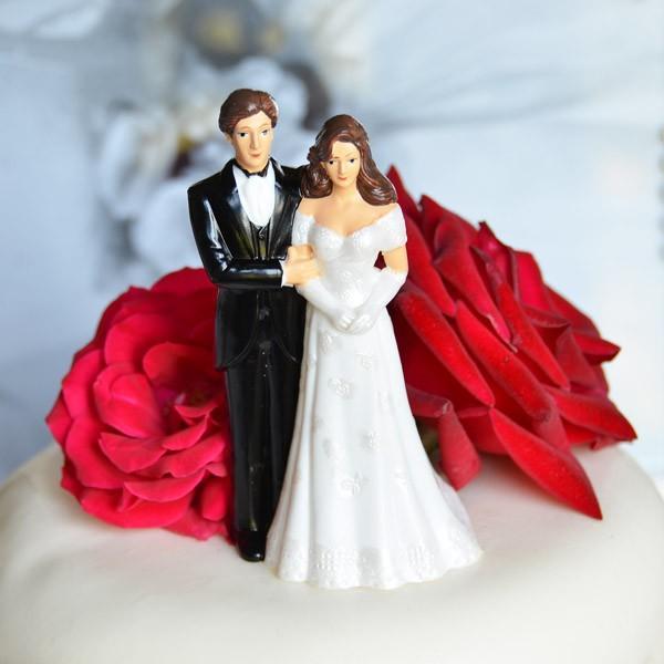 Mariage - VINTAGE Bride and Groom Topper