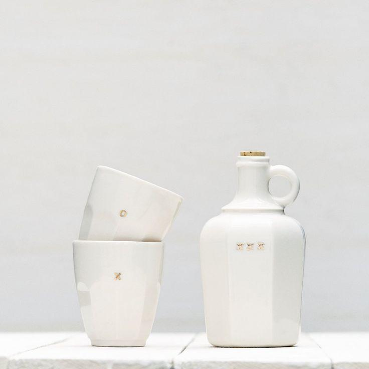 Wedding - Porcelain Decanter & Tumblers