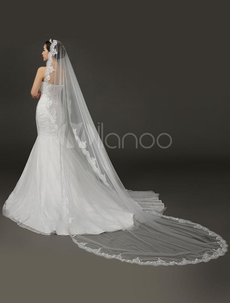 Hochzeit - Lace Net Bridal Veil