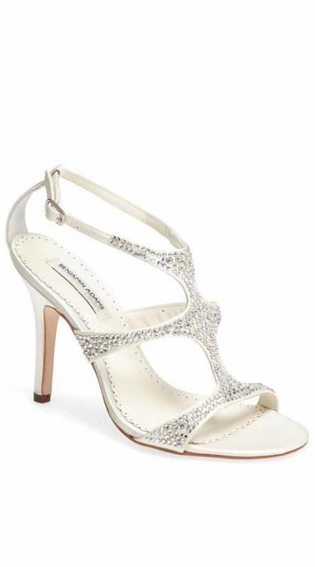 Hochzeit - Embellished T-Strap Sandal