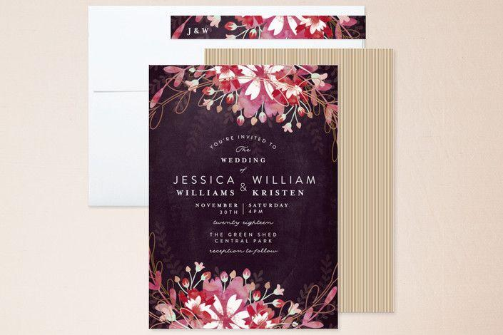 Wedding - Foil Pressed Wedding Invitation Card