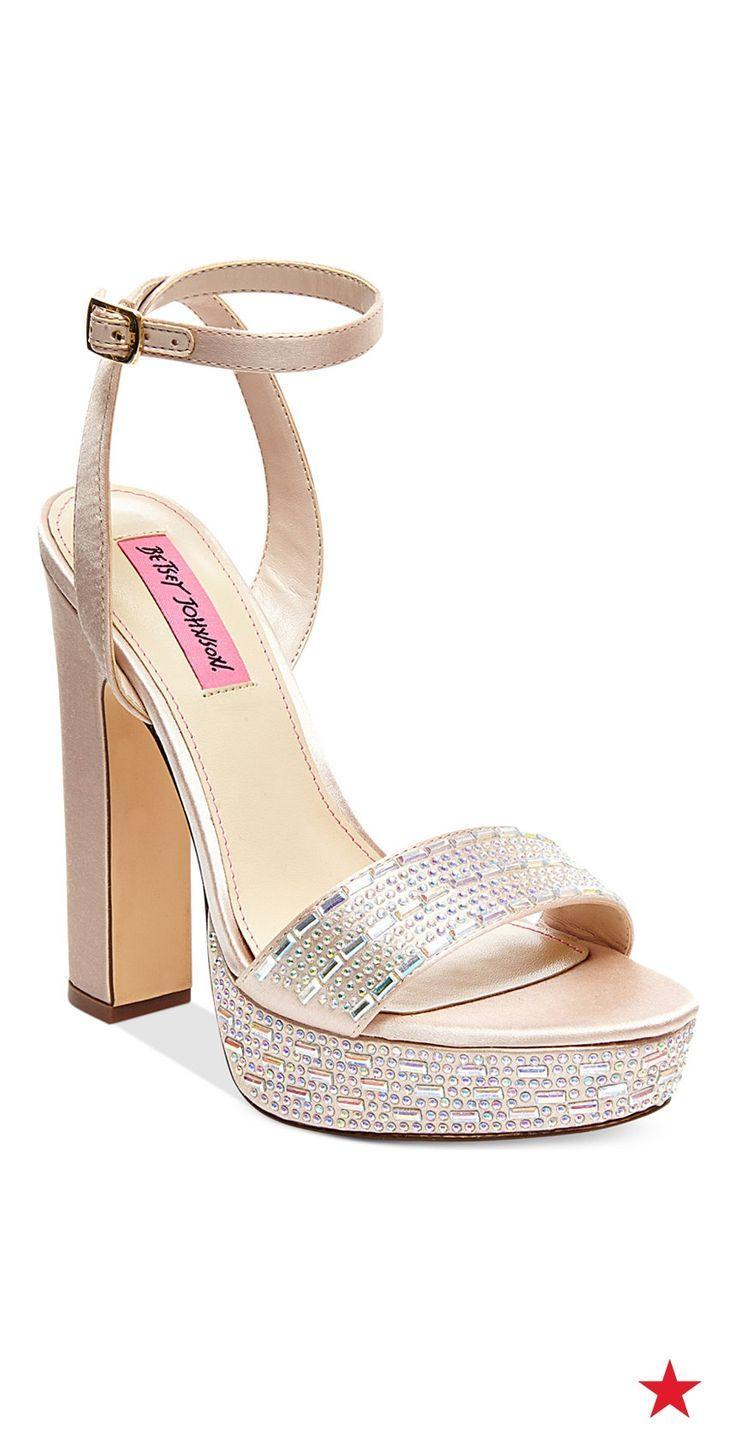 Hochzeit - Betsey Johnson Alliie Platform Evening Sandals