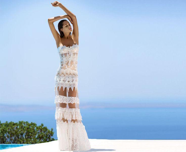 زفاف - Couture Long Lace Sheer Dress