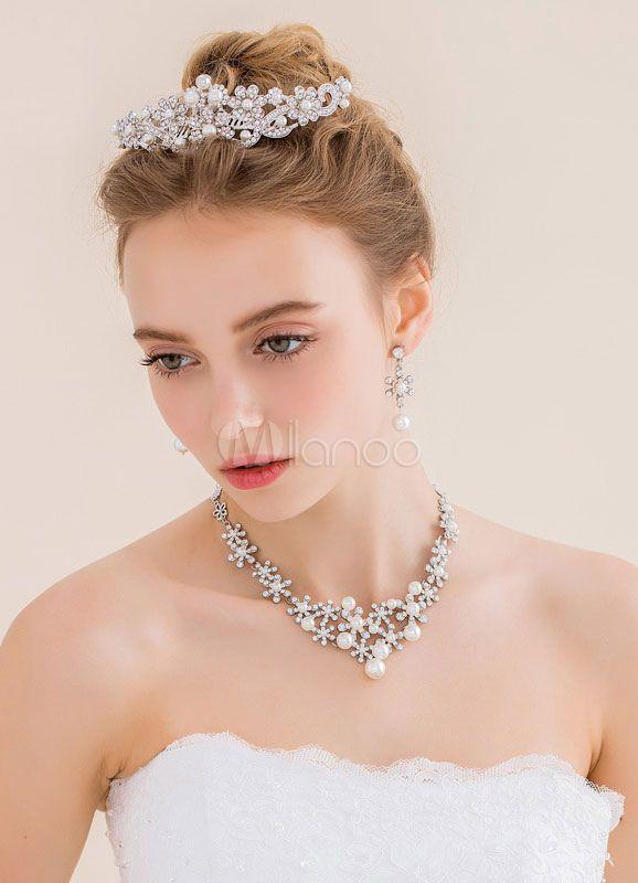 Mariage - Rhinestone and Pearl Jewelry Sets