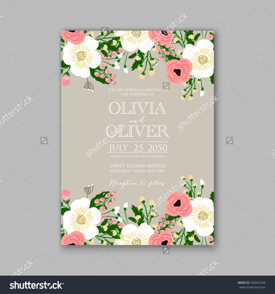 Wedding Card Or Invitation With Abstract Floral Background 2573800