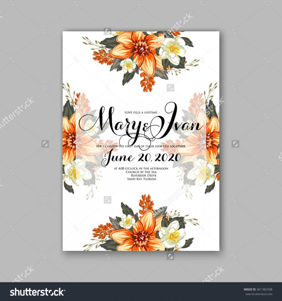 Wedding Invitation Or Card With Tropical Floral Background Greeting Postcard In Grunge Retro Vector Elegance Pattern With Flower Rose Illustration Vintage Style Valentine S Day Card Luau Aloha 2573802 Weddbook