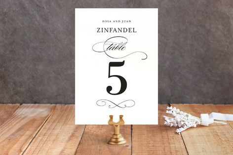 Hochzeit - Formal Ink Wedding Table Numbers