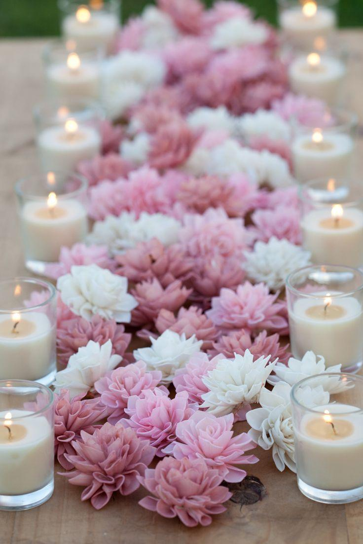 Mariage - Blush Wooden Flowers