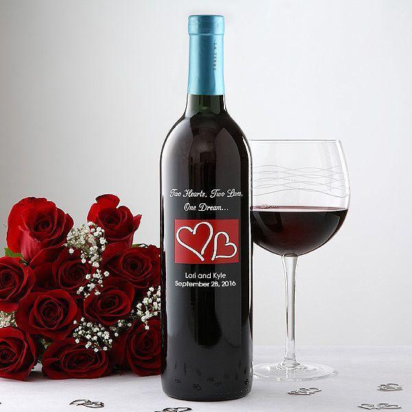 Mariage - Personalized Wedding Wine Bottle