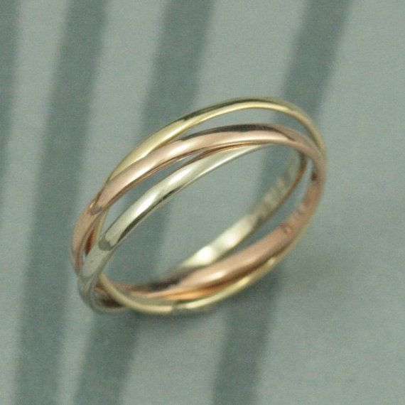 Mariage - Tri Color Rolling Rings