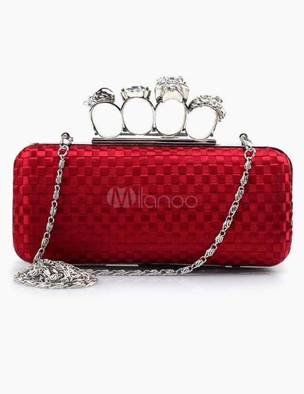 Wedding - Finger Ring Clutch Handbag