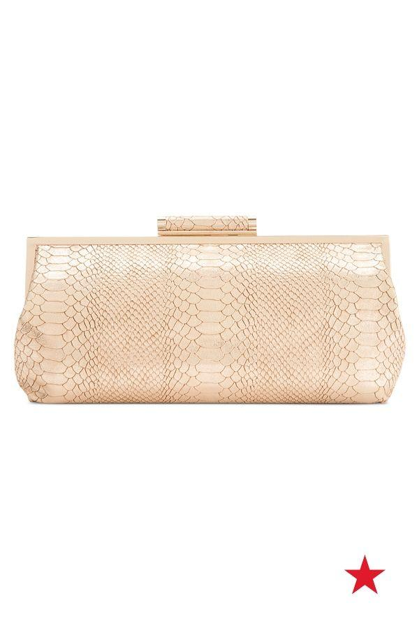 Düğün - Faux Snake Leather Clutch