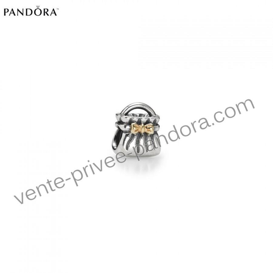 Perle pandora pas cher 14ct silver bow sac d 39 or p0679 ravissant vendre r - Vente privee pandora ...