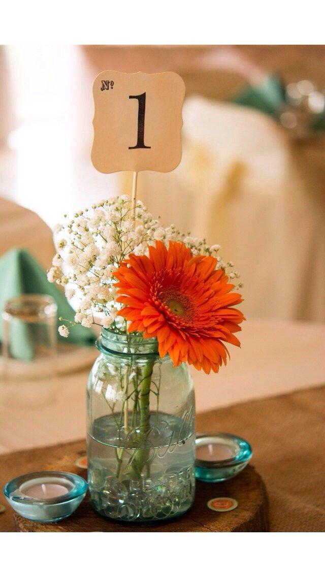 Mariage - Table Numbers, Wedding, Shower, Table Number On A Stick