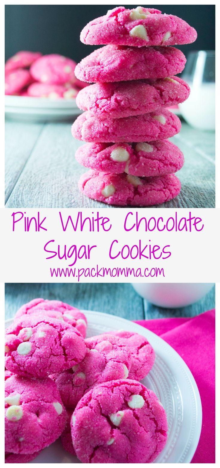 Food & Favor - Pink White Chocolate Sugar Cookies #2574113 - Weddbook