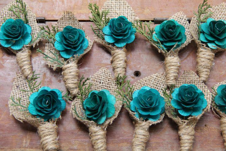 Wedding - Turquoise Boutonniere
