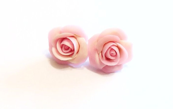 Pink Rose Earrings Small Flower Stud Vintage Style Fl Retro Jewelry Womens Fashion Accessories Wedding Bridesmaids