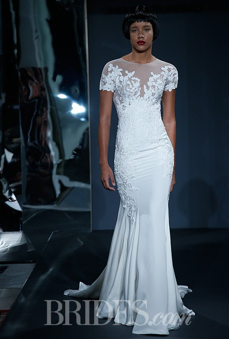 Mark zunino for kleinfeld 2014 style 80 short sleeve for Wedding dresses with sleeves for sale