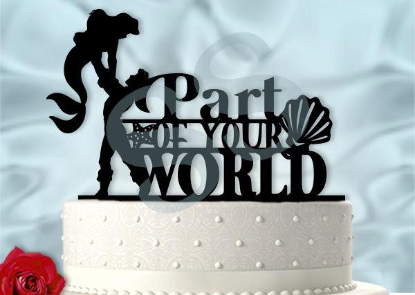 Mariage - Ariel and Eric Part of Your World  Wedding Cake Topper