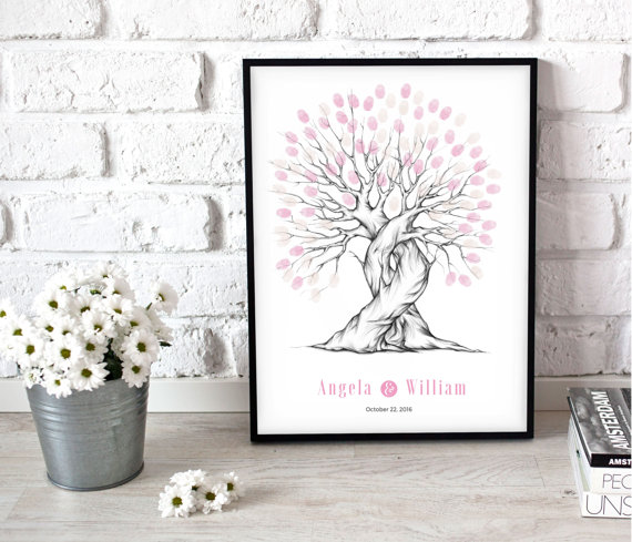 Wedding Keepsake, Fingerprint Tree, Fingerprint Tree Wedding ...