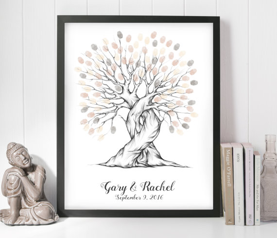 Wedding - wedding guest book ideas, wedding guest book alternatives, wedding guest book fingerprint tree, personalised wedding gift, wedding present