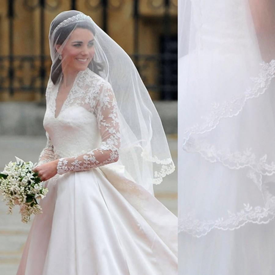 Kate Middleton Veil, Inspired, Princess Kate Veil, Elbow Length Veil ...