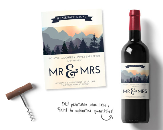 image relating to Printable Wine Label known as Individualized Marriage ceremony Wine, Personalized Wine Labels