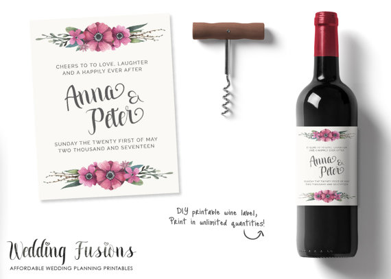 Personalized Wine Labels Personalised Wine Labels Wedding Wine - Make your own wine label template