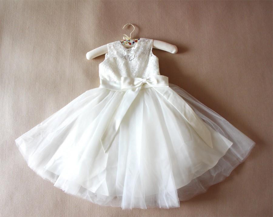Ivory Flower Girl Dress Lace Flower Girls Dress Baby Girl Dresses