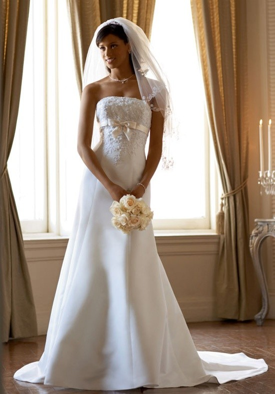 Wedding - Cheap 2014 New Style David's Bridal Collection Style T9395 Wedding Dress - Cheap Discount Evening Gowns