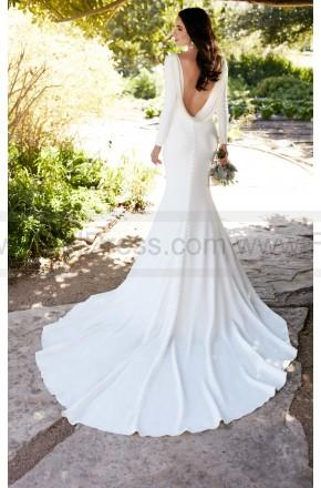 Wedding - Martina Liana Long Sleeved Wedding Dress With Bateau Neckline Style 791