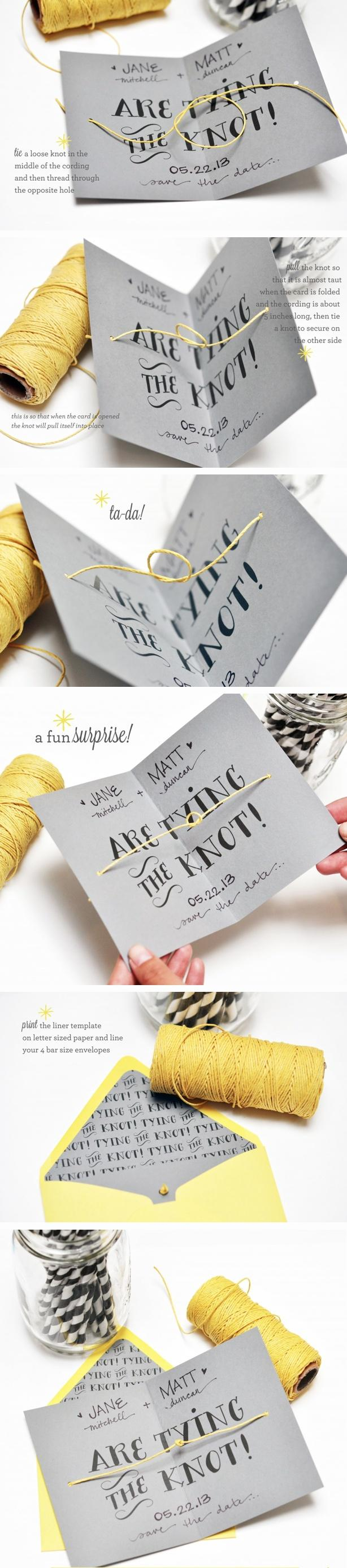Mariage - Tying The Knot DIY And Printable