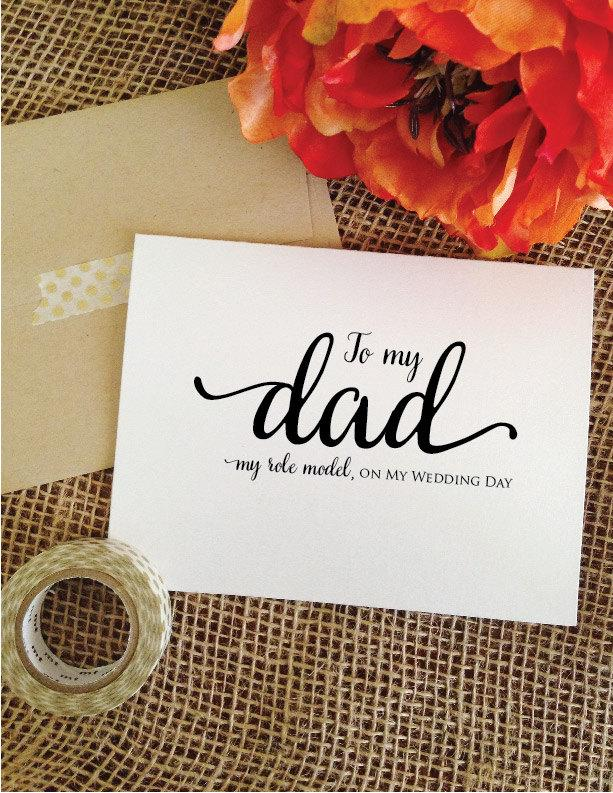 Hochzeit - To my dad my role model, on my wedding day To my dad on my wedding day thank you dad card (Lovely)