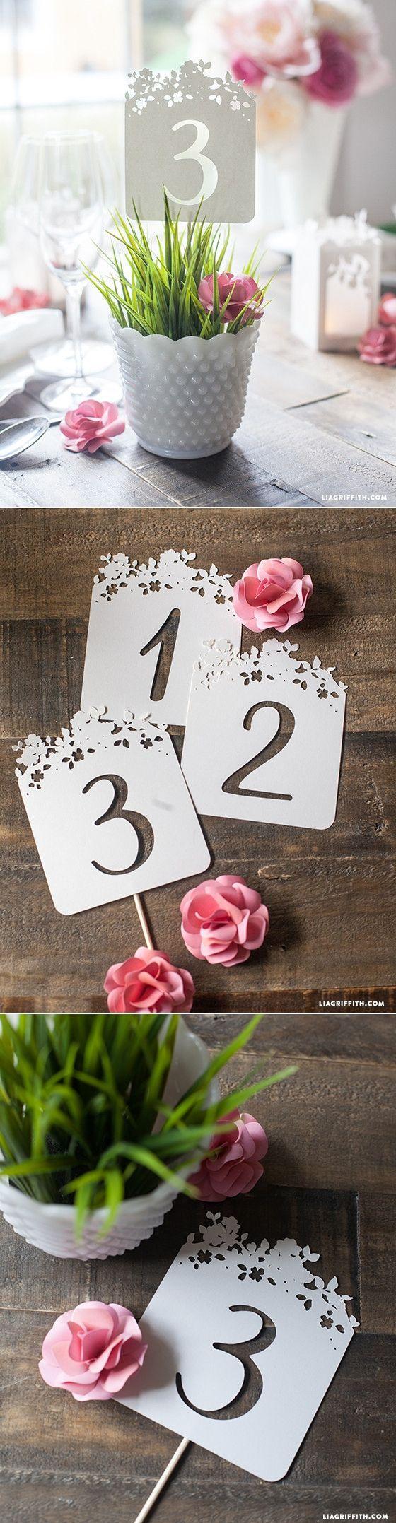 زفاف - DIY Wedding Table Numbers