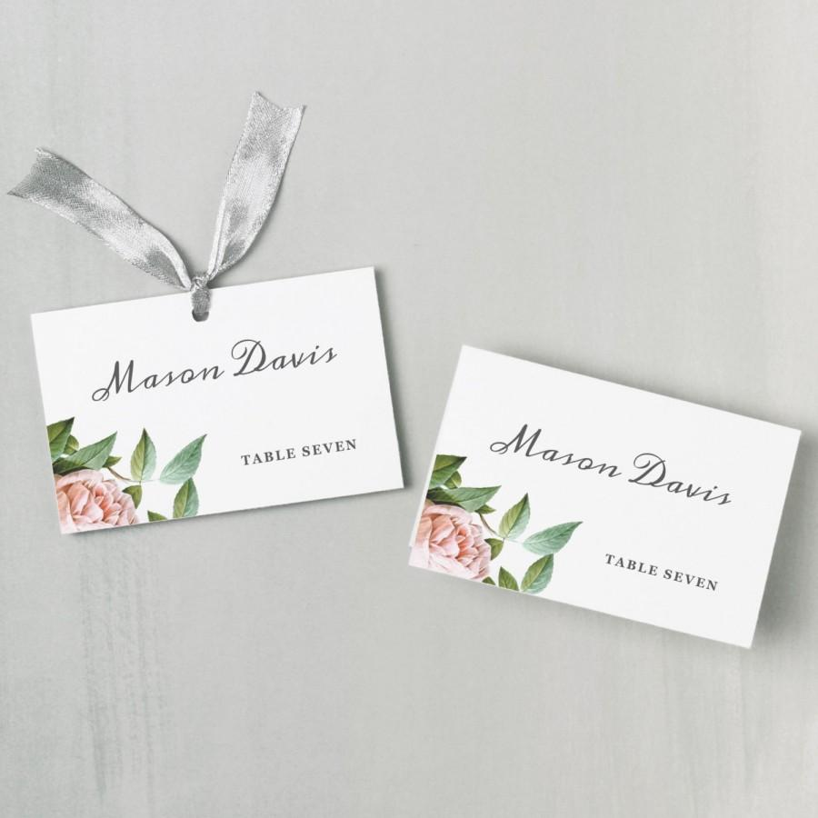 Hochzeit - Printable Place Card Template