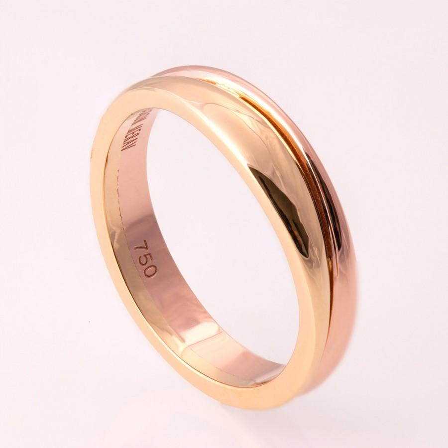ring plated band wedding bands carbide dome groove from gold rings tone with product center tungsten engagemen two engagement queenwish