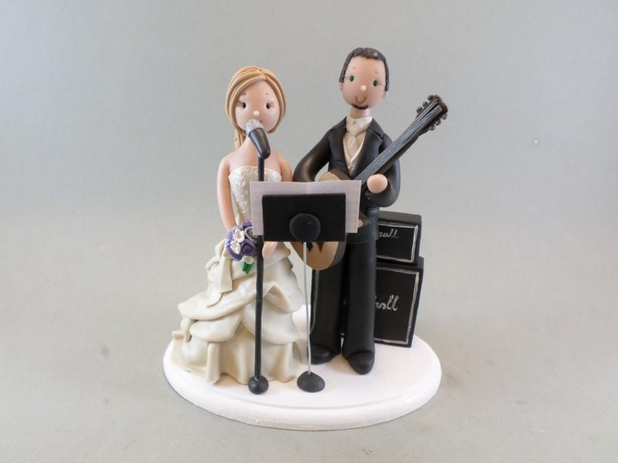 Cake Toppers Bride Groom Customized Music Theme Wedding Cake