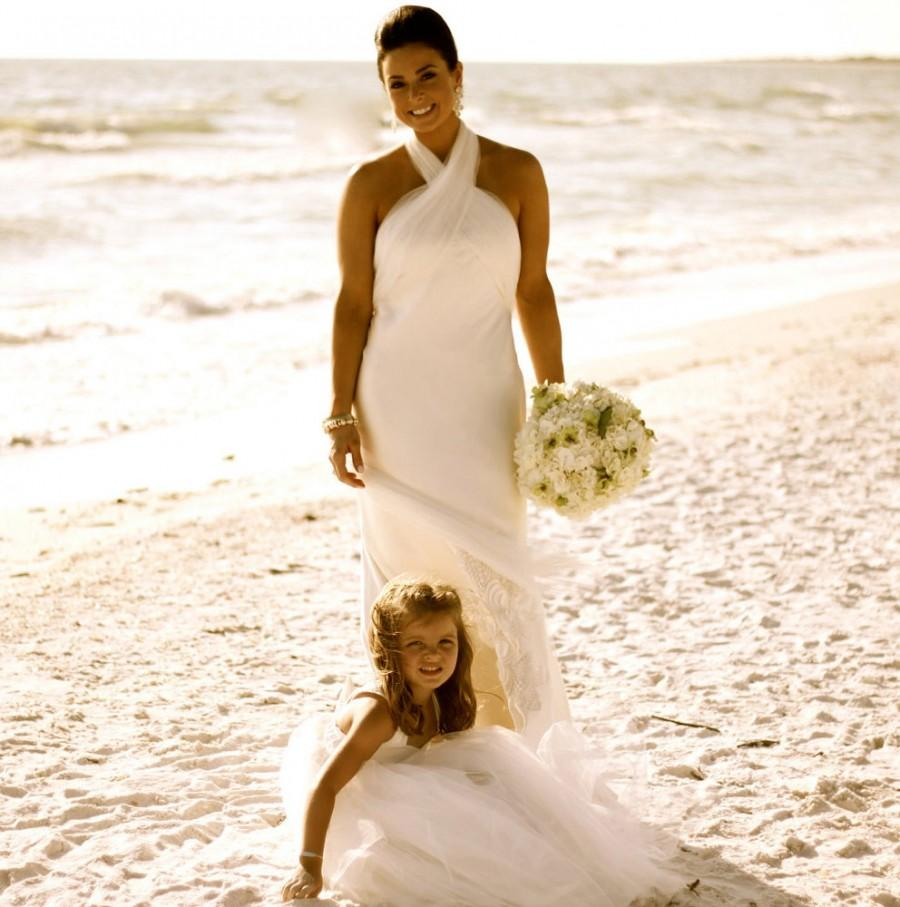 Mariage - Cotton Flower Girl Dress Floor Length