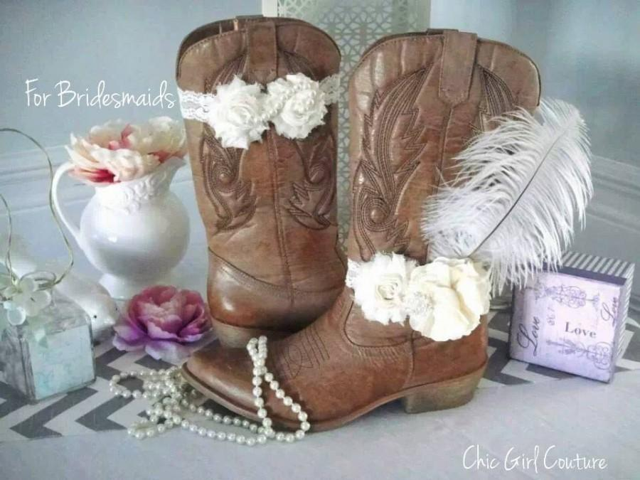 Hochzeit - Shabby Chic Boot Band, Boot Accessories,Cowgirl Boot Band, Boot Bracelet