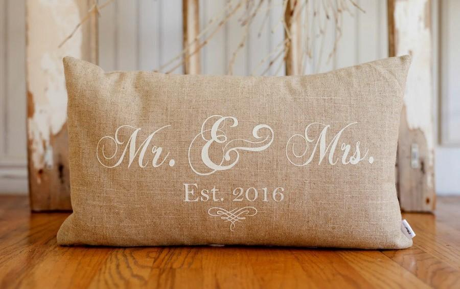 Mr And Mrs Pillow Cover 40x40 Lumbar Choice Of Black Or Vintage Simple Mr And Mrs Pillow Covers